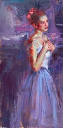 Ethereal Night by Henry Asencio - Original Painting on Board sized 16x32 inches. Available from Whitewall Galleries